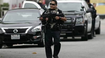 Gunman shot dead by police in California
