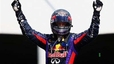 The victory marked Vettel's first F1 victory on North American soil [AFP]