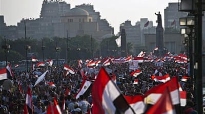 Hundreds of thousands are on the streets seeking President Morsi's resignation [Jonathan Kalan/Al Jazeera]