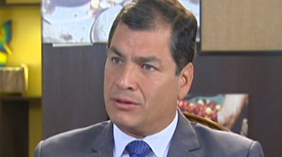 Ecuador president: Snowden out of our hands
