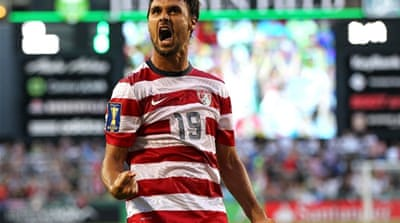 José Alfonso put Cuba ahead in the Gold Cup clash with the USA in Sandy, Utah [AFP]