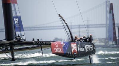Emirates Team New Zealand beat Luna Rossa by 5.23 minutes [Getty Images]