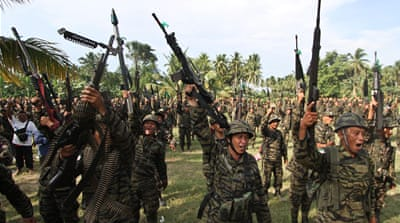 The Moro Islamic Liberation Front's guerrilla war for more autonomy has gone on for decades [AP]