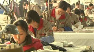 Rise of jobless rate in China
