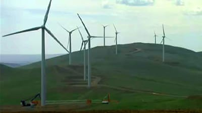 Mongolian wind power plant swings into action