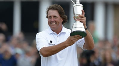 The win is Mickelson's fifth major title of his career [Reuters]