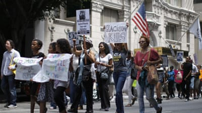 Trayvon Martin's parents lead rallies in US