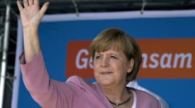 Merkel faces rival in German TV debate