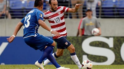 The USA notched up their ninth consecutive win against struggling El Salvador [AFP]