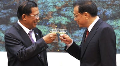 China sent letters of praise to Cambodia to mark the 55th anniversary of diplomatic ties [AFP]