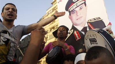Tens of thousands in Tahrir Square answered the call of Egypt's army chief [Reuters]