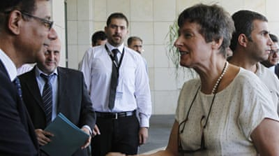 Angela Kane, UN high representative for disarmament, visited Damascus on Wednesday for talks [Reuters]