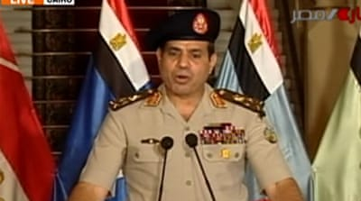 """Does not history tell us that it is a totalitarian military regime such as El-Sisi's which fuses the state and society so solidly that nothing substantially political remains in between?"" asks Ahmad [Al Jazeera]"