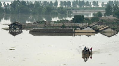 North Korea often floods at this time of year, due to the onset of the Meiyu-Baiu rains. [EPA]