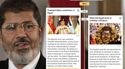 Timeline: Morsi's rule over Egypt