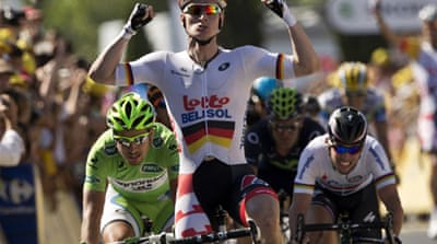 South African Impey, who rides for Orica-GreenEdge, took the lead from teammate Simon Gerrans [AFP]