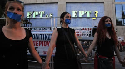Greece: Blank TV screens and a blank reform agenda