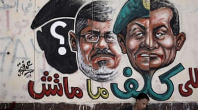 The protest to ouster the Muslim Brotherhood's Mohammed Morsi sets a precedent that bodes poorly for the Egypt's democratic future.  [Getty Images]