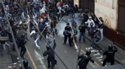 Several injuries were reported in Lima and at similar protests in several provincial capitals. [Reuters]