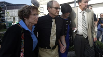 Rick and Mary Todd speak to the media as they arrive for the coroner's inquiry on the death of their son [Reuters]