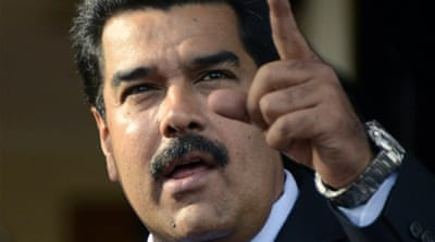 Venezuelan President Nicolas Maduro claims US seeks to bring down his government [AFP]