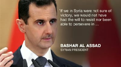 Assad 'sure of victory' in Syria's civil war