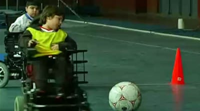 Messi draws disabled children to sport