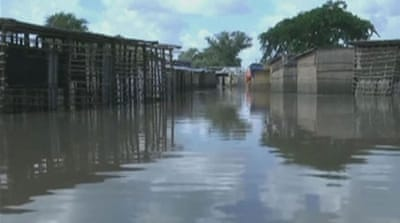 Thousands of people have been displaced on Saturday after flooding washed away their homes. [CCTV]