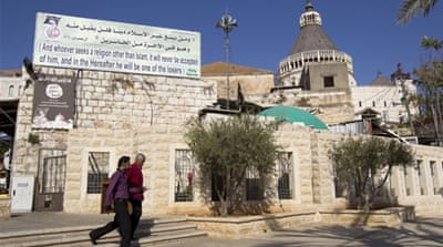 Nazareth and its surrounding areas are home to thousands of Palestinian Christians with Israeli citizenship [Reuters]