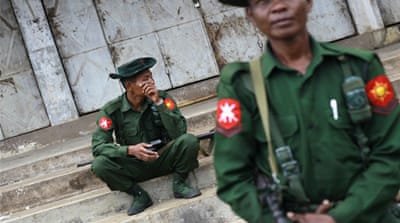 Questions have been raised over the resources pumped into Myanmar's military, which receives more than a fifth of the total state budget each year [Reuters]