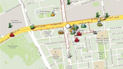 Mapping the main pro-Morsi sit-in