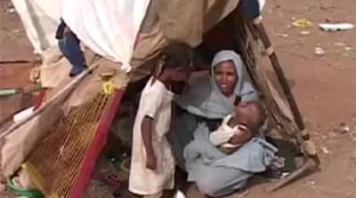 Sudan flood displaced wait for aid