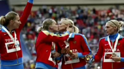 Troubled athletics meet ends in Moscow