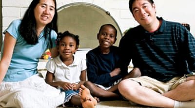Matthew and Grace Huang moved to Doha last years with their three children [California Innocence Project]