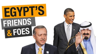 Interactive: Egypt's friends and foes