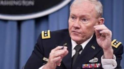 US' top military officer General Martin Dempsey was believed to be taking part in the talks in Amman [AP]