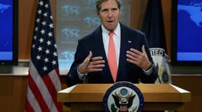 John Kerry has said the likely chemical attack in Syria requires a response from the world community [Getty]