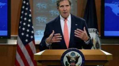 "Kerry on use of chemical weapons in Syria: ""by any standard it's inexcusable ... It's undeniable"" [AFP]"