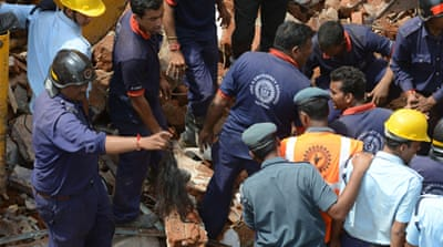 Building collapses claim lives in India