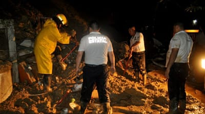 13 killed by landslides in Mexico