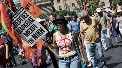 Greek civil servants march to protest cuts