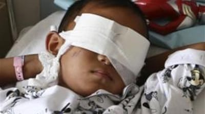 Reports said the six-year-old boy had been drugged before his eyeballs were gouged out. [Reuters]