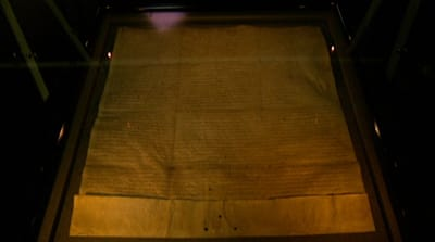 Magna Carta document goes on display in UK
