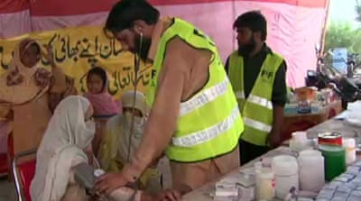Banned group aids Pakistan's flood victims