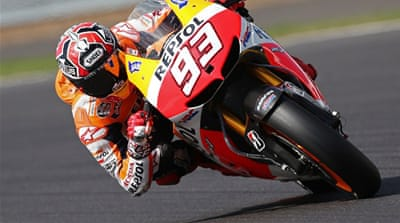 The Spaniard Honda rider is chasing his fifth successive win on Sunday  [AFP]