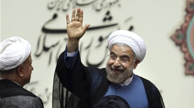 Rouhani told a US television network this week that his country would never develop nuclear weapons [AP]