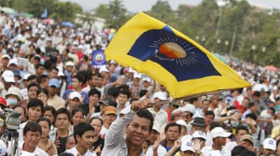 The opposition CNRP claimed 1.3 million names were missing from electoral rolls [Reuters]