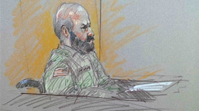 Nidal Hasan faces 13 charges of premeditated murder and 32 charges of attempted premeditated murder [AP]