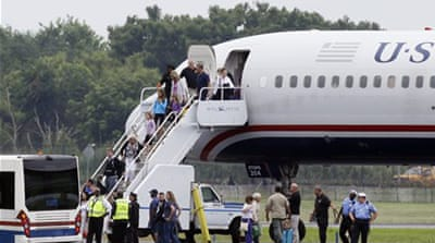 Local media on Wednesday reported that the plane received a bomb threat [AP]