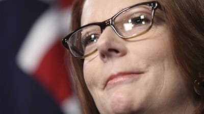 In a televised speech that went viral, Gillard accused opposition leader Tony Abbott, seen here, of misogyny [Getty]